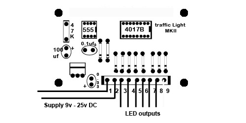 2    4 Way Traffic Light Control Circuit For Model Railway
