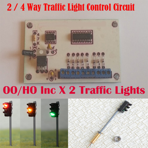 Traffic Light Controller In Xilinx: 2/4 Way Traffic Light Control Model Railway HO/OO Gauge