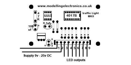 2    4 way traffic light control circuit
