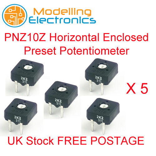 Iskra PNZ10Z Horizontal Enclosed Preset Potentiometer 1K x 5