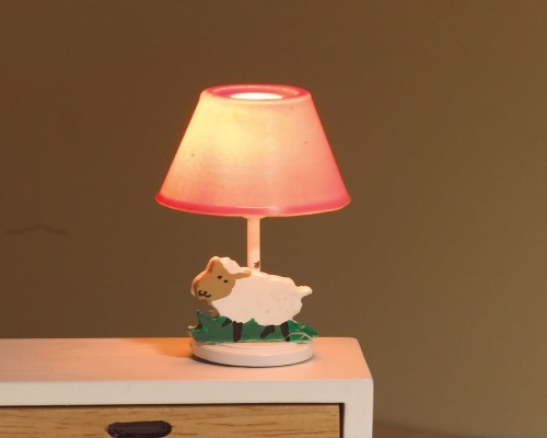 1:12 Scale 12v Pink Nursery Lamp Dolls House Emporium